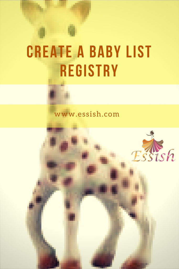Create A Baby List Registry!!