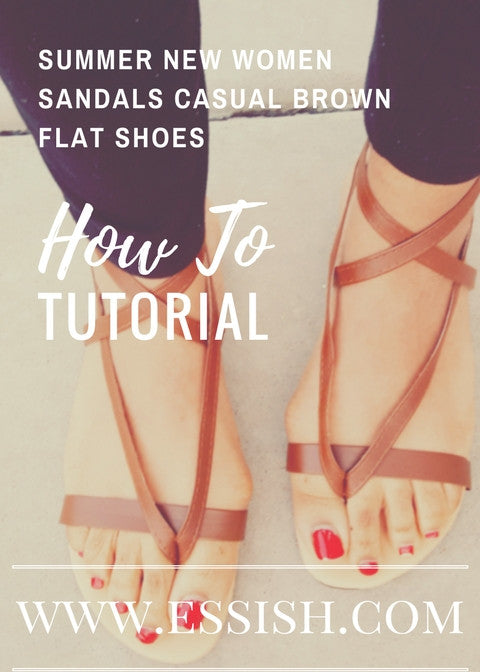 How To Tutorial On Summer New Women Sandals Casual Brown Flat Shoes