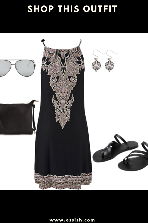 Stylish Boho Black Dress