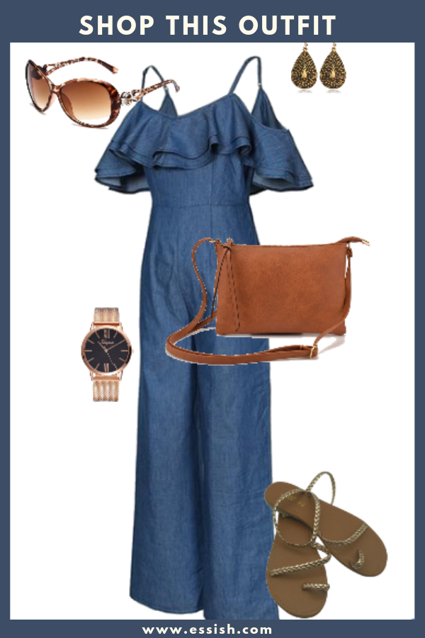 Shop This Denim Jumpsuit Outfit