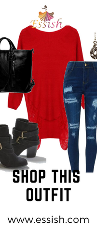 Shop This Outfit-Casual Outfit With A Pop of Red