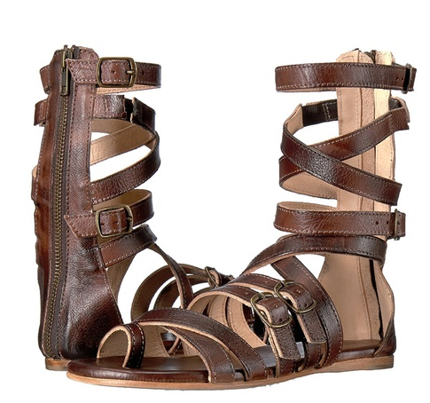 New Women Fashion Summer Roman Sandal Boots Back Zipper Belt Buckle Cross Straps Flat Sandals