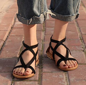 Casual Beach Rome Flat Summer Sandals Bohemian Women Shoes