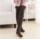 Over Knee Lace Up Plush Warm Winter Boots