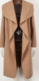 Casual Autumn Ruffle Warm Winter Women Turndown Long Coat Collar Female Overcoat