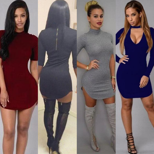 Women Summer Style Bodycon Night Sexy Club Tshirt Mini Dress