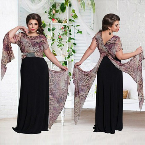 Special Design Dress With Special Sleeve Floor-Length Casual Style Plus Size