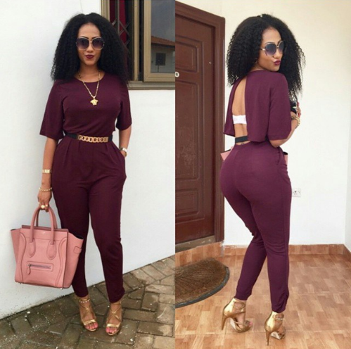 Casual Fashion O-Neck Sexy Summer Rompers Womens Backless Jumpsuit