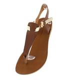 BROWN GOLD WOMEN'S SANDAL