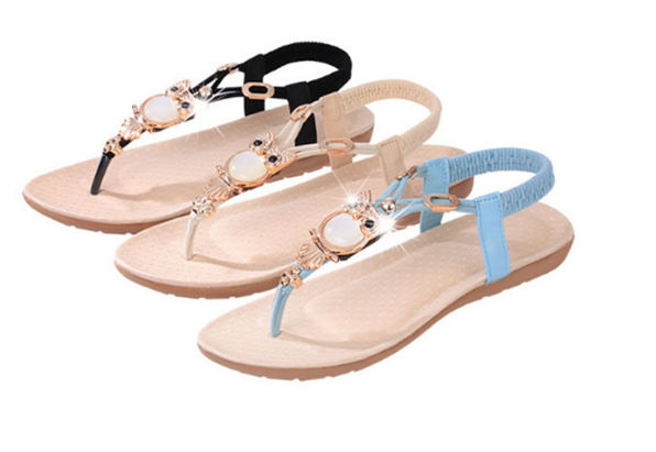 Womens Flat Sandal T-strap Thong Flip Flops Shoe Summer Sandals Comfortable Non-Slip shoes