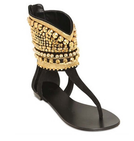 Shop Clearance Items Online Rome Sewing Golden Diamond Clip Toe Sandals Sexy Black Designer Slippers Sandals Women Flat Sandals
