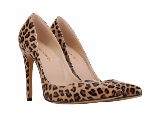 Leopard Pointed High Heel Pumps
