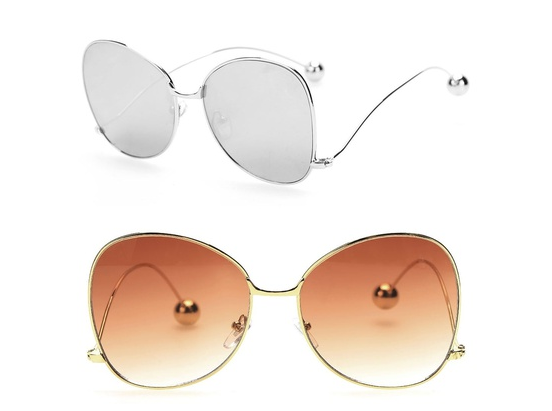 Fashion Accessorie Slim Frame Cat Eye Sunglasses