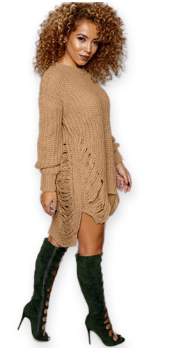 Women Pullovers Dress Fashion O neck Long Sleeve Winter Vestido Casual Sweater Dresses