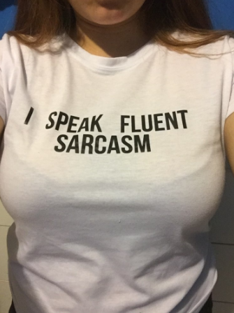 I SPEAK FLUENT SARCASM Women Summer Top Letters Print T Shirt Sexy Slim Funny Top Tee