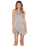 Essish Sexy Hem Side Slits O-neck Sleevelss Women Knitited Summer Tank Dress