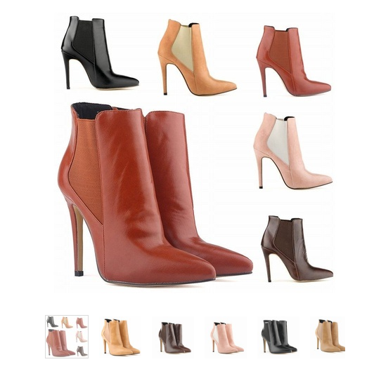 WOMENS SEXY POINTED TOE FAUX LEATHER HIGH STILETTO HEELS PLATFORM ANKLE BOOTS SHOES
