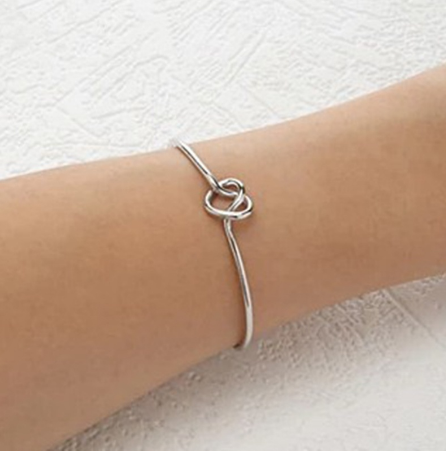 Women silver/ gold/ black Knot Adjustable Bracelet Bangle Chain Jewelry Lovers Girlfriend Gift