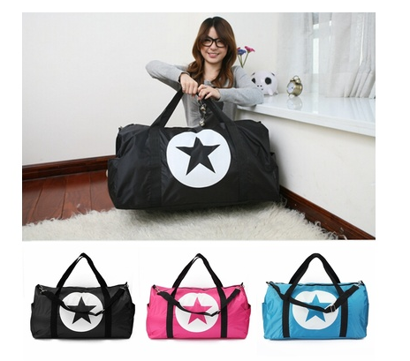 Large Unisex Travel Star Waterproof Nylon Men Women Bag Sports Gym Duffle Bag Lightweight