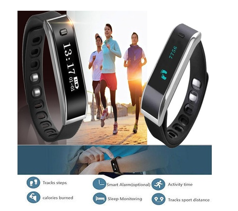 Bluetooth Bracelet Sleep Fitness Activity Tracker Call Reminder Smart Band
