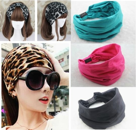 Cotton Elastic Sports Wide women Headbands for women hair accessories turban headband headwear