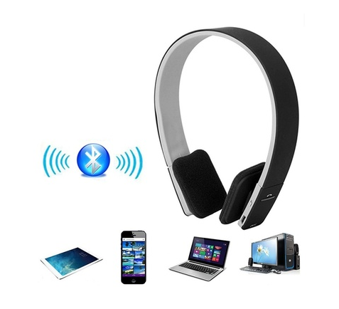 Noise Reduction Wireless Bluetooth Stereo Headphones Earphone Headset With MIC For Smartphone For Pad For Tablet PC