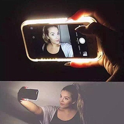 2016 Fashion New Luxury LED Light Selfie Phone Case for Phone 4.7'' 5.5'' Luminous Phone Cove