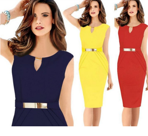 Elegant pencil dress one-piece dress plus size Ladies Slim Small V-Neck Bodycon Dress
