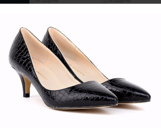 Faux Crocodile Shoes Woman Office Ladies Shoes Women High Heels Shoes Point Toe Women
