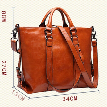 New Fashion Genuine Leather Bags Tote Women Leather Handbags Women Messenger Bags Shoulder Bags Hot Vintage Bags