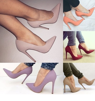 Women Fashion Summer Purple Solid High Heel Thin Heel Sexy Casual Work Shoes