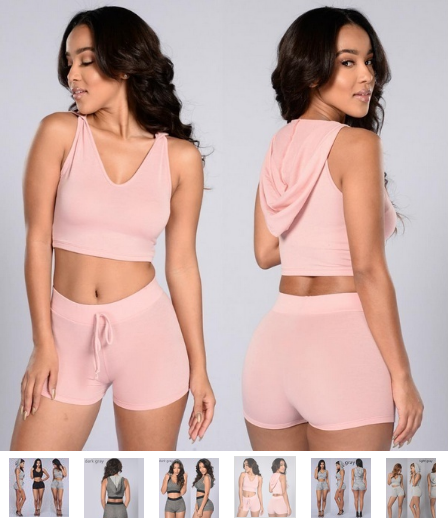 2b90b07958d Women Two Piece Outfits Sleeveless Crop Top and Shorts Set – Essish