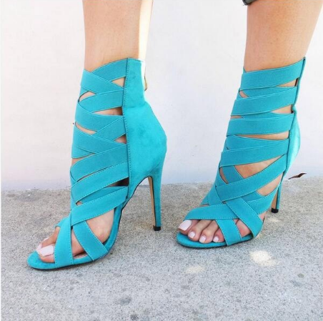New Women High Heel Sandals Stiletto Ankle Wrap Sexy Summer Shoes