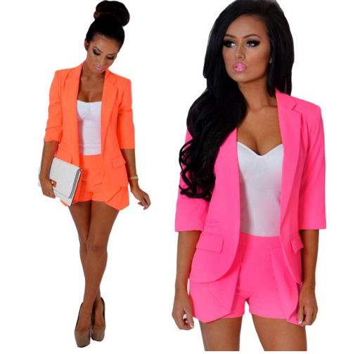 Shop Clearance Items Online New Fashion Office Women 3/4 Sleeve Open Blazer Jacket Slim Blazer