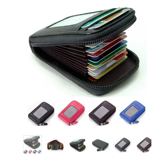 New Fashion Men's/Women's Mini Leather Wallet ID Credit Cards Holder Purse