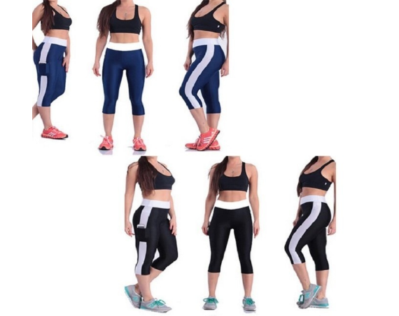 Women Elastic Yoga Tights Running Cropped Workout Leggings Fitness GYM Pants