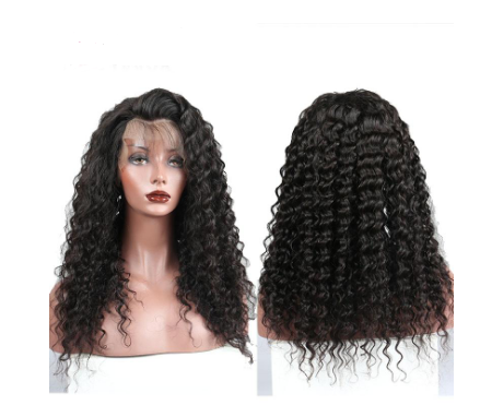 Pre Plucked Full Lace 150% Glueless Remy Brazilian Curly Full Lace Wig