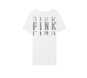 PINK Bling Campus Strappy Choker Tee