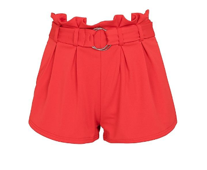 Women Pockets Elegant High Waist Summer Wide Leg Shorts