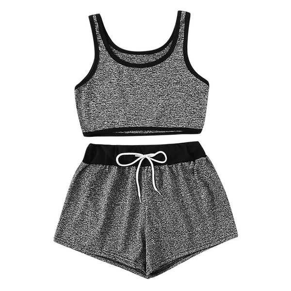 Women Summer Tracksuit Two Piece Set