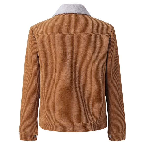 Women Faux Corduroy Jacket