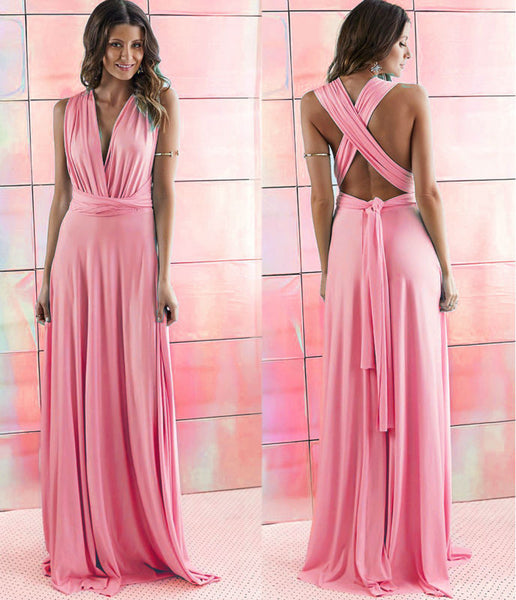Summer Sexy Multiway Bridesmaids Convertible Dress Sexy Women Wrap Maxi Dress   Long Dress Robe Longue Femme