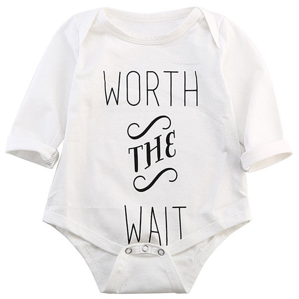 Baby Rompers Toddler Kids Baby Jumpsuit Playsuit Letter Printing Outfits Clothes