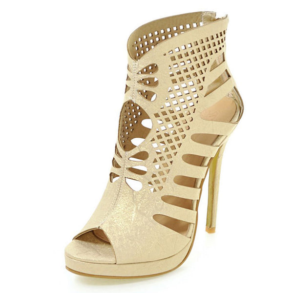 Women Shoes High Heels Gladiator Women Pumps Sexy Hollows Ladies Stilettos