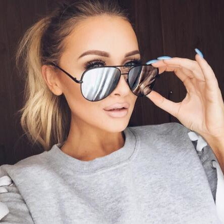 Retro Vintage Women Mirror Shades Sunglasses