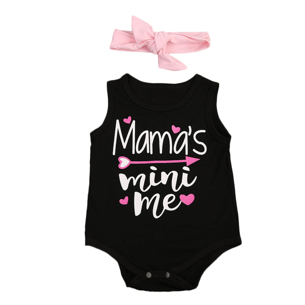 aebc293ae885 ... Skirt Hairband Children Clothes Pink.   19.99. 2pcs Baby Girls Floral  Letter Printed Romper Sleeveless Jumpsuit + Headband Sunsuit Outfit Set 0-