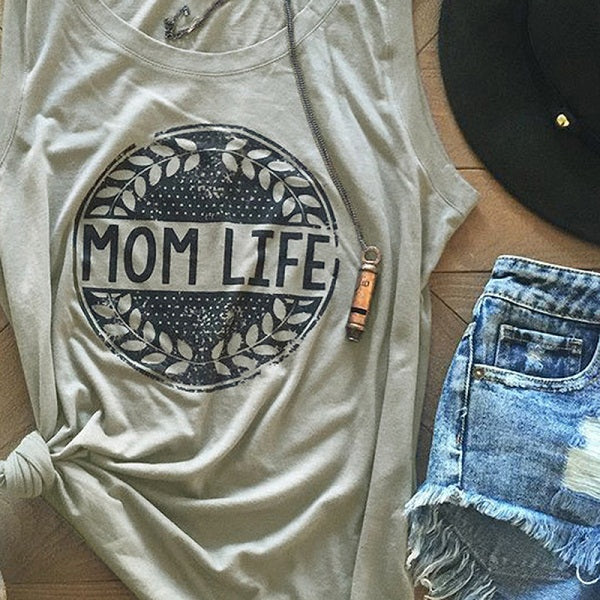 Summer Women T Shirt Funny Printed Casual Sleeveless O-Neck Tees