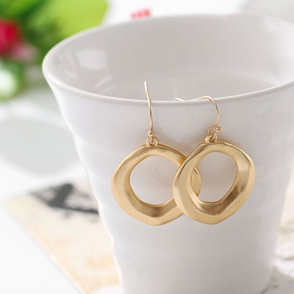 Hot Selling Hollow Square Gold Earrings