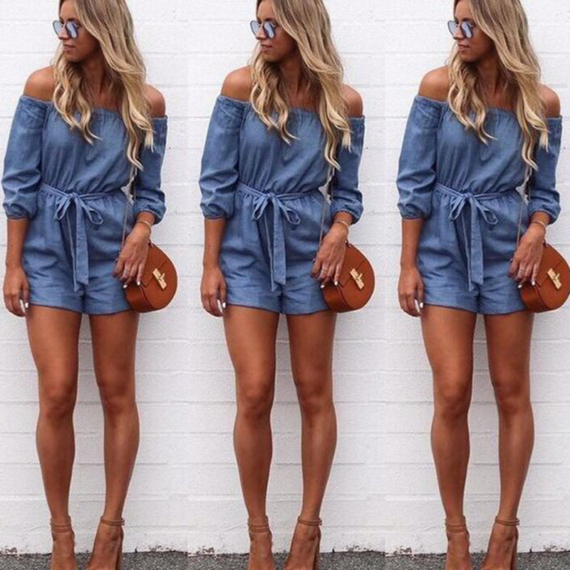 7d829c0e5aac Summer Fashion Short Casual Jumpsuits Jeans Coverall Women Jumpsuit Denim  Overalls Shirt Rompers Girls Shorts – Essish