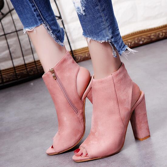New Fashion Womens High Heels Casual Party Platform Pumps Peep Toe Shoes